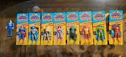 Super Powers All 8 Small Card Action Figures Plus Clark Kent By Kenner