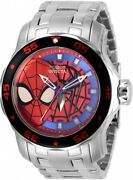 Men's 32418 Marvel Spiderman Black And Blue Stainless Steel Watch