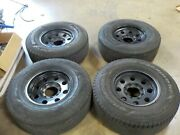 4 Used 2001 Dodge Ram 2500 Tires 265/75 R16 E1 With Ar62 Outlaw Ii 16x8 Wheels
