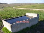 Photo Water Trough And Downland This Area Has Many Such Concrete Troughs To Wat