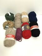 Yarn Wool Lot Plymouth Cascade Royal Tweed Lot Of 9 Mixed Colors Wool Blends