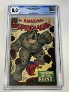 Amazing Spider-man 41 Cgc 8.0 1st Appearance App Of The Rhino Sinister Six