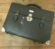 1976 Vintage Swiss Army Military Green Medical Case Bag Leather