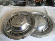 Two 1958 58 Chevrolet Chevy Belair Impala Nomad Hubcap Wheel Cover Center Cap
