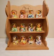Y2k Limited Edition Winnie The Pooh Snowglobe 12 Piece Collection With Display