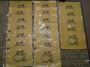 Masters Flag Collection 2001-2019 Augusta National Tiger Woods Open Ryder Pga