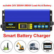 24v 30a Automatic Fast Lead Acid Battery Charger For Van/ Truck/ Motorcycle/ Atv