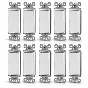 Ohlectric Ol-45231 Single Pole White Decorative Switches - 15amp Smooth And Qui...