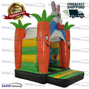 13x10ft Commercial Inflatable Rabbit Jumping Bounce House With Air Blower