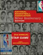 1971 Nba All-star Game Program And Ticket San Diego Sports Arena Lenny Wilkens Mvp
