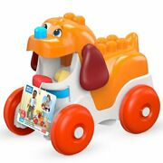 Mattel Mega Bloks First Builders Pull-along Puppy With Big Building Blocks New