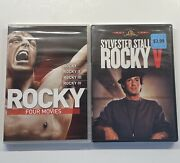 Rocky 1, 2, 3 And 4- Giftset 4-pack Dvd, 2011, 3-disc Set And Rocky 5 V Movie Lot