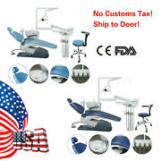 Dental Unit Chair Hard Leather Computer Controlledandchair Stool+handpiece Kit New