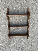 Vintage Cushman Furniture Solid Maple Large 3-tier Wooden Wall Shelf