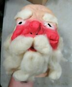 Vintage/antique 1940s/50s Santa Claus Rubber Full Head Mask New Nos Halloween