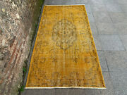 3and0399and039and039 X 7and0394and039and039 Overdyed Vintage Natural Rug Village Rug Handmade Carpet.skub718