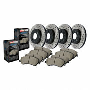 Stoptech Front And Rear Brake Rotor And Front/rear Brake Pads|sold As Kit