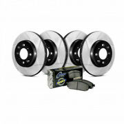 Stoptech Front And Rear Brake Rotor And Brake Pads Truck Slotted 4-wheel Sold As Kit