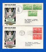 Scott 790-94 Navy Issue Set Of Five Newman-sudduth Fdcs Mellone Ul Hand Colored