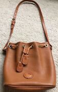 Authentic Dooney And Bourke Leather Bucket Bag Vintage Ao 552150