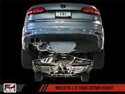 Awe 09-14 Volkswagen Jetta Mk6 1.4t Track Edition Exhaust - Chrome Silver Tips