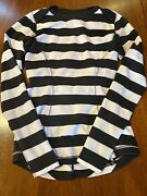 Lululemon Cat In The Hat Size 6 Black Striped Long Sleeve. Charity 50 For Kids