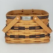 """Workshops Of Gerald E. Henn 9"""" Square Wood Basket Special Collectors Edition"""