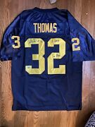 Anthony Thomas Signed/auto Michigan Wolverines Jersey W/ A-train And Go Blue Coa