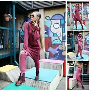 Woman Causal Jumpsuits Solid Hooded Zipper Yoga Sets Fashion Hot Creative Warm