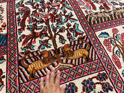 9x12 Antique Wool Rug Hand-knotted Oriental Tree Of Life Handmade Vintage Carpet