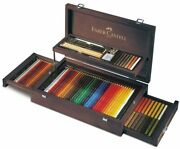 Faber-castell Art And Graphic Collection Wooden Case 125 Pieces