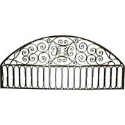 Large Antique French Colonial Wrought Iron Arched Architectural Transom C. 1890