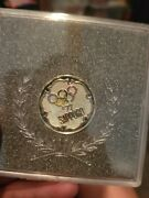 1972 Sapporo Olympic Rings Japanese Commemorative Medal Coin Japan Olympics