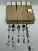 New Pottery Barn Classic Stainless Steel Flatware 50-piece Set Service For 10