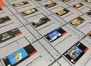Super Nintendo Snes Original Video Game Cartridges Authentic/cleaned/tested