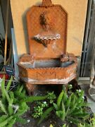 Lion Head Outdoor Wall Concrete Water Fountain