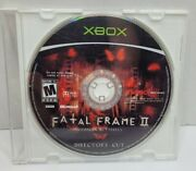 Fatal Frame 2 Crimson Butterfly Director's Cut Xbox Disc Only Rare Tested
