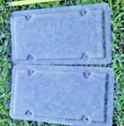 2 Nos Licence Plate Clear Plastic Contoured Edges Covers Shield Protector Pair
