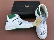 Larry Bird Signed White/green Converse Weapons Shoes Boston Celtics