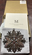 2009 Mma Sterling Silver Snowflake Christmas Ornament Extremely Rare
