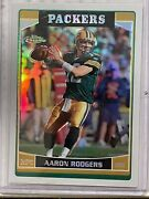 2006 Topps Chrome Aaron Rodgers 14 Refractor 2nd Year Green Bay Packers Nfl