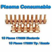 20x Plasma Torch 176656 Tips 176655 Electrodes Fit For Miller 25c/27c 375xtreme