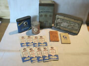 Vintage Zig Zag Wheat Straw And Bandw Rolling Papers Cigarette Cigar Snuff Tins