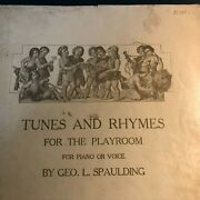 Antique 1907 Sheet Music Tunes And Rymes For The Playroom Geo. L. Spaulding Pa