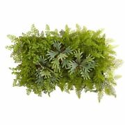 Luxury Multicolor 38 X 23 Staghorn And Fern Artificial Living Wall - 38