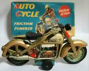 Nomura Toy Tin Venus Auto Cycle Motorcycle Showa From Japanese Tin Toy Collector