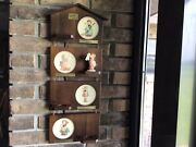 Hummel Hanging Wooden Haus W/ Miniature Plates Boxes And Coa