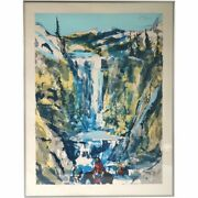 Vintage Earl Biss Serigraph, Walking Upon The Thundering Waters, 25/25 1983