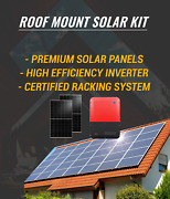 Roof Mount Solar Kit-with Premium Panels Racking And Inverter