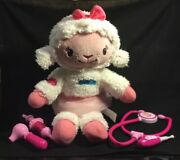 Disney Take Care Of Me Lambie With Plush Face And Dr Tools Doc Mcstuffins